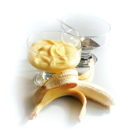 Pudding,-Mousse-oder-Kaltgetränk-mit-Bananengeschmack