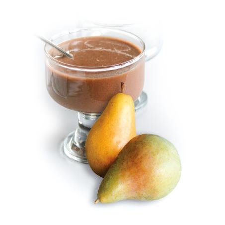 Pudding,-Mousse-oder-Kaltgetränk-mit-Birnen-Schokoladengeschmack